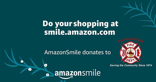 Amazon Smile Banner For FFG fire new log