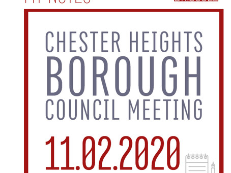 My Notes for 11.2.2020 Regular Council Meeting