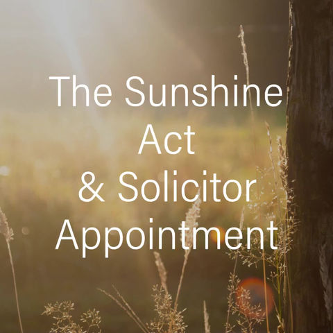Sunshine Act, Stand with us in the Sun