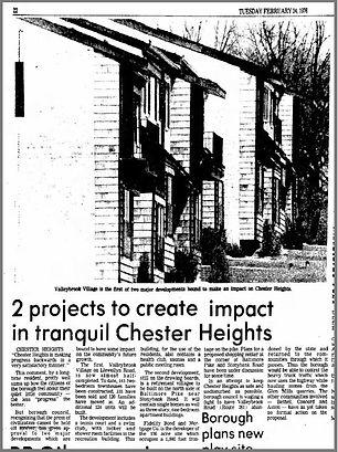Village of  Valleybrook Article  New Development