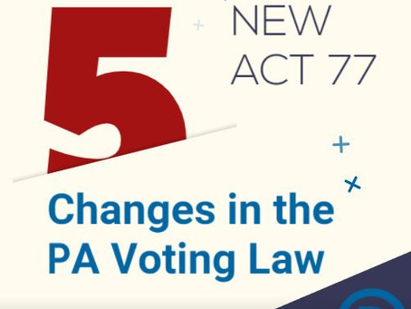 5 Changes to PA Voting Laws
