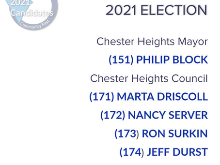 Your 2021 Voting Plan - Chester Heights