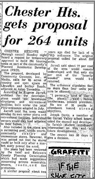 Village of Valleybrook Article on Original Proposal