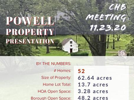 Powell Property Development &  Other CHB Matters