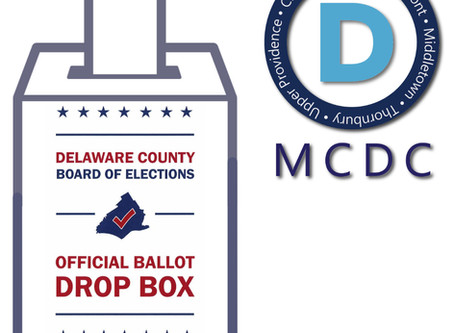 Ballot Drop Box in Chester Heights