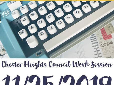 11/25/2019 Borough Council Meeting Quick Notes