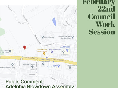 Community Notes:  CHB Feb22nd Council Work Session