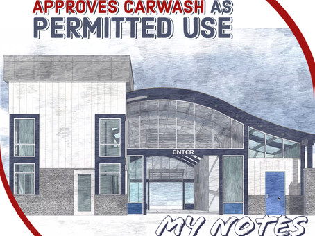Carwash Zoning Exception Granted