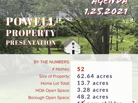 Powell Property Re-Zoning at the Full Discretion of Borough Council