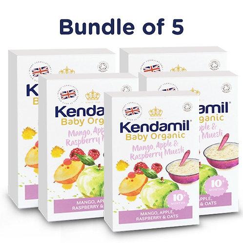 Bundle of 5: Kendamil Baby Organic Mango, Apple & Raspberry Muesli