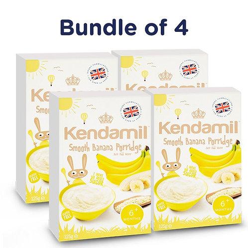Bundle of 4: Kendamil Smooth Banana Porridge