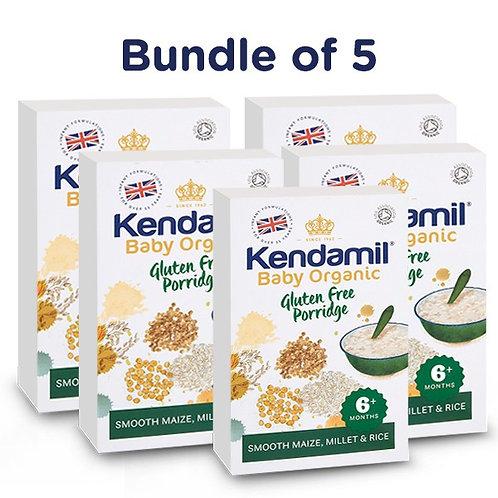 Bundle of 5: Kendamil Baby Organic Gluten Free Porridge