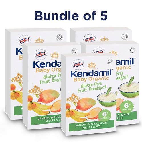 Bundle of 5: Kendamil Baby Organic Gluten Free Fruit Breakfast