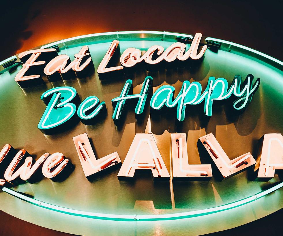 Eat Local Be Happy!