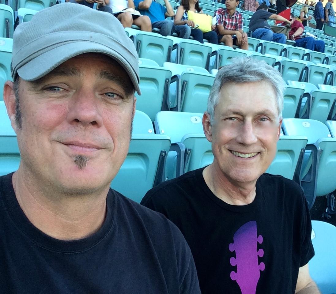 John and Alan at McCartney Aug 2014