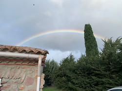 A RAINBOW OVER THE HOUSE