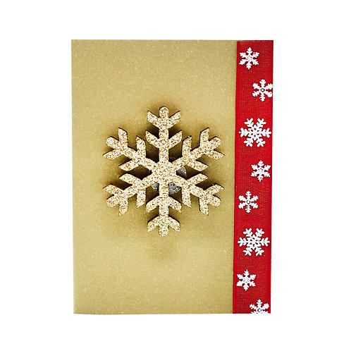 """Коледна картичка """"Снежинка"""""""