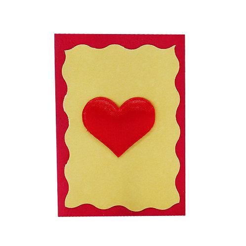"""Картичка """"Червено сърце"""""""