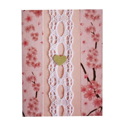 """Картичка """"Розова дантела"""""""