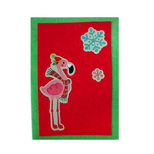 """Коледна картичка """"Фламинго"""""""