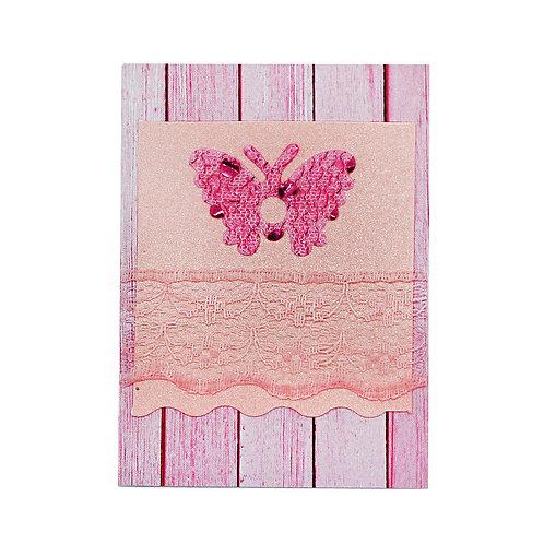 "Картичка ""Дантелена пеперуда"""