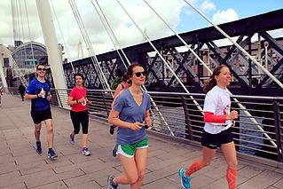 Social training runs in London