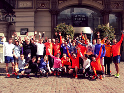 Private running tour event