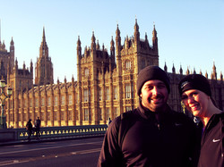Runners outside Houses of Parliament