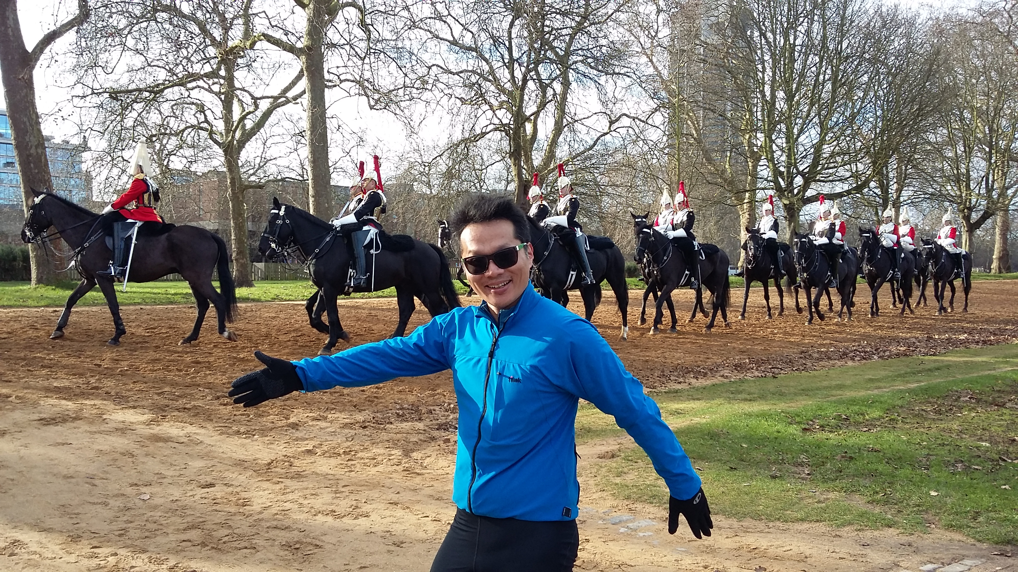 Having fun with the Horse Guards
