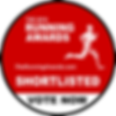 Shortlisted for Running Awards 2019 logo