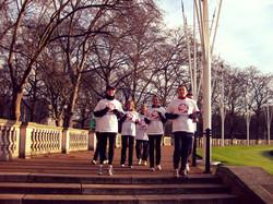 Jogging near Buckingham Palace