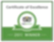Trip Advisor Certificate of Excellence 2011 winner's badge