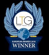Luxury Travel Guide European Awards Winner 2018 badge