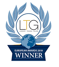 Luxury Travel Guide European Awards 2018 winners badge