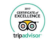 Trip Advisor Certificate of Excellence 2017 winner's badge