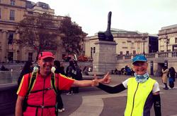 Thumbs up in Trafalgar Square