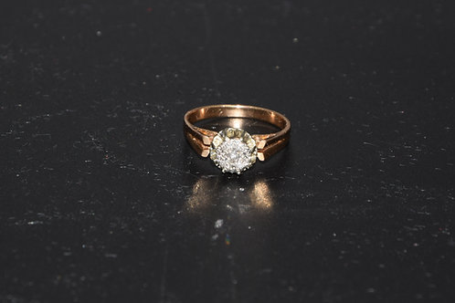 Bague motif diamants
