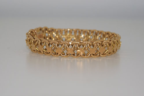 Bracelet articulé en or jaune