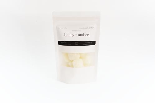 honey + amber wax melts