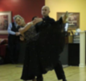 Ardena in a ballroom gown fro when she danced ballroom