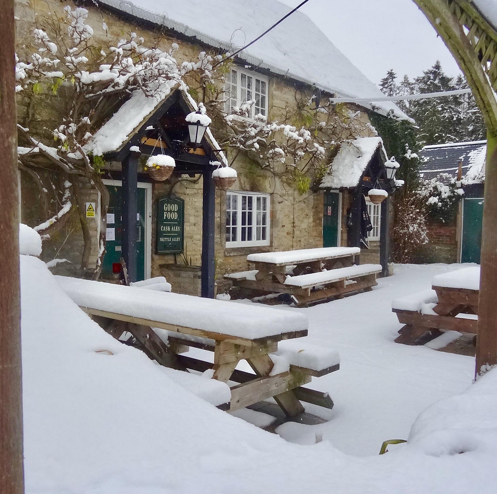 Look at our lovely pub yesterday!!