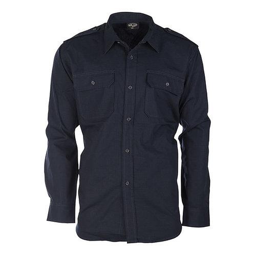 Field shirt buttons rip-stop BLUE