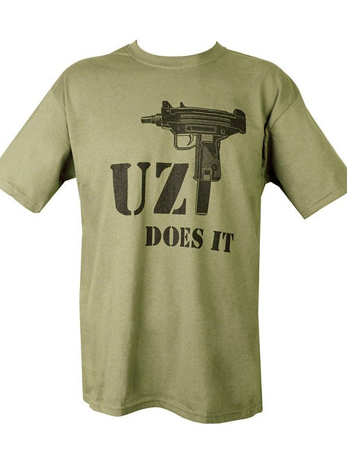 Tricou Uzi Does It Olive Green