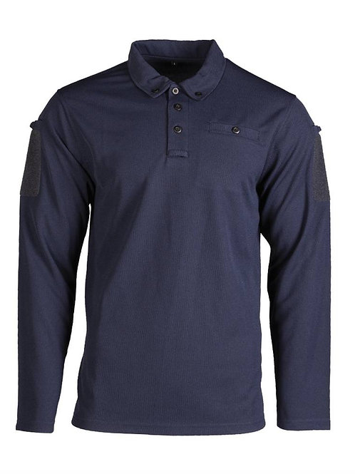TACTICAL QUICK DRY POLO SHIRT 1/1 SLEEVE DK BLUE