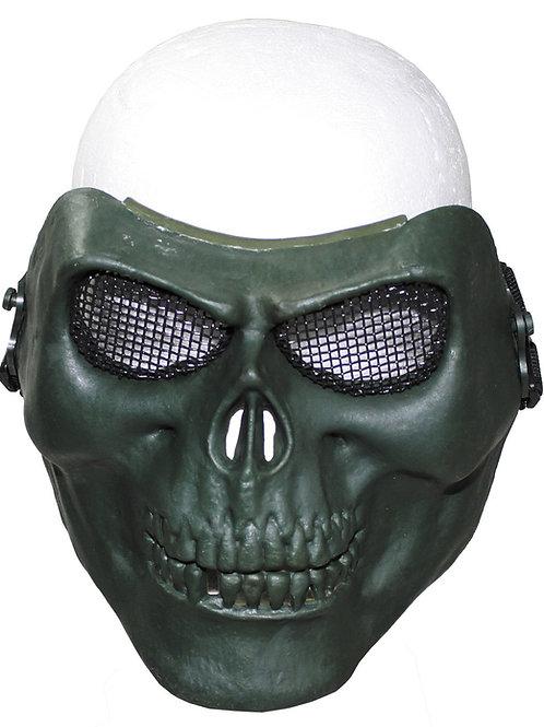 Masca de fata tip craniu, OD Verde, deco