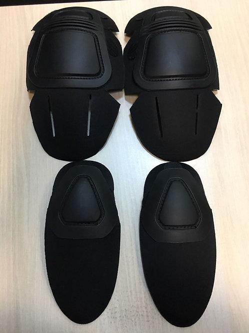 Genunchiere + Cotiere negru (tactic costum)