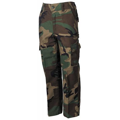 NE BDU copil pantaloni, woodland