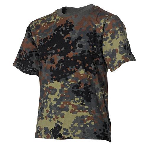 Copii T-Shirt, flecktarn,  jumătate maneca