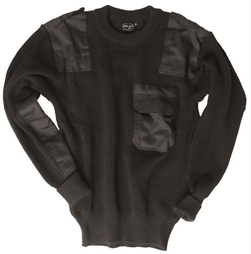 GERMAN Black PAN SWEATER