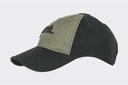 Logo Cap - PolyCotton Ripstop - Black / Olive Green B